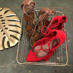 Summer Bundle Lace Up Flats + Gladiator Sandals 6